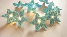 Guirlande lumineuse origami fleurs