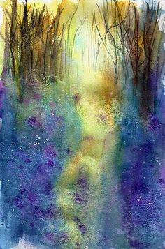 ann blockley art | ann blockley | Bluebell Woods Inspired by Ann Blockey , a photo by ...
