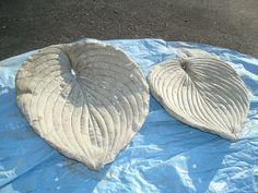 Home made hosta leaf castings using vinyl cement patch