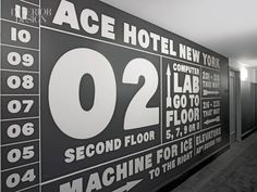 Hand-painted signage in guest corridors (by graphic artists Mint & Serf)