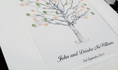 Thumb-Print Guest Tree. Stationery by Pretty as a Picture. Visit prettyasapicture.ie