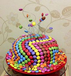 18th birthday cake smartie heaven!