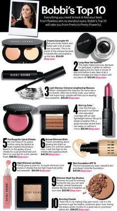 "Bobbi's Top 10  eye liner is one of the best items for me! also, the foundation is extremely popular in korea! we call the item ""angel foundation"""