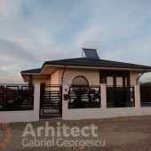 Proiect 39 | Casa parter | Otopeni | Proiecte de case personalizate | Arhitect Gabriel Georgescu & Echipa Design Case, Gazebo, Outdoor Structures, House, Kiosk, Home, Pavilion, Cabana, Homes