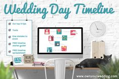 Top 5 tips for your wedding day timeline, with FREE starter guide and spreadsheet to help with your wedding planning | ownyourwedding.com