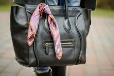 Céline Mini Luggage, Hermès silk scarf