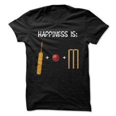 I Love Happiness is Cricket Shirts & Tees