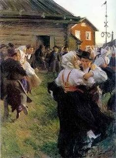 Midsummer Dance painted in 1897 | by Swedish painter Anders Zorn