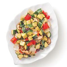 Courgettes en sauté à l'asiatique - Les recettes de Caty Mets, Vegetable Recipes, Nutrition, Pasta Salad, Side Dishes, Vegetables, Ethnic Recipes, Food, Vegan