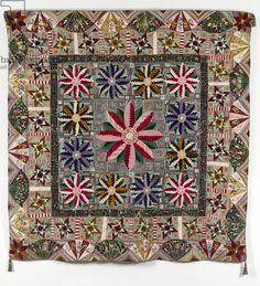 Jubilee Quilt, by Mrs Mills, 1887 (velvet & silk)