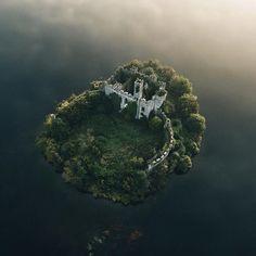 Castle on an island, Ireland #adventure