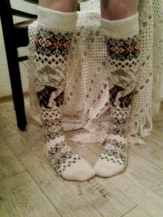 very beautiful long socks code Knee High Winter by WoolMagicShop