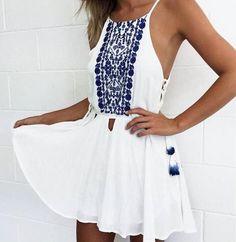 8DESS Sexy Sling Print Chiffon Dress