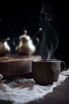 Hot coffee, Cold morning...