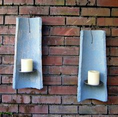 Wella Verde Village's rustic wall sconces made with old roof tiles.