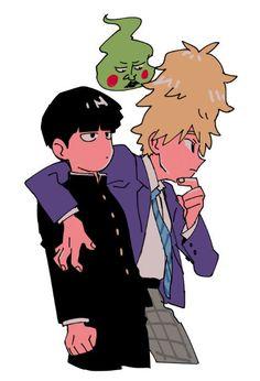 Shigeo Kageyama, Ekubo and Teruki Hanazawa One Punch Man, Jojo's Bizarre Adventure, Manga Anime, Mob Psycho 100 Anime, My Hero Academia, Mob Physco 100, Demon Slayer, Kageyama, My Guy