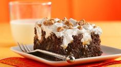 Ingredients  1 box Betty Crocker™ SuperMoist™ German chocolate cake mix Water, vegetable oil and eggs called for on cake mix box 1 can (14 oz) sweetened condensed milkRead more ›