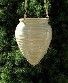 Hanging Planter by ceramicsbylisa on Etsy https://www.etsy.com/listing/81170531/hanging-planter