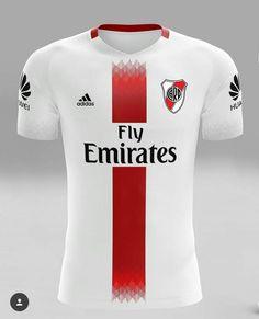 River Plate - Argentina Football Uniforms, Football Jerseys, Camisa Do River Plate, Sports Jersey Design, Football Pitch, Soccer Kits, Uniform Design, Team Wear, Sports Shirts