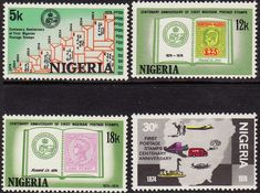 Nigeria 1974 Stamps Centenary Set Fine Mint As SG 321 4 Scott 317 20 Other Commonwealth Stamps for sale here