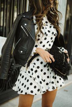 I like polka dots - not a dress this short though:  Toughen Up Those Polka Dots