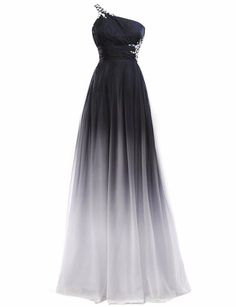 Himoda Gradient Color Beaded Prom Dresses Chiffon Evening Ball Gown Long      Remarkable product available now. 5c614f433cb7