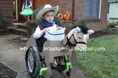 Wheelchair Costumes: Cowboy on his horse wheelchair costume *pinned by WonderBaby.org