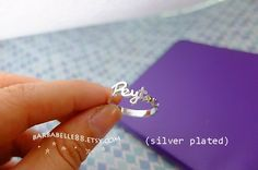 Personalized name ring Any size Yellow gold by barbabelle88