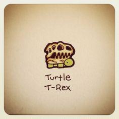 Turtle T-Rex #turtleadayjuly - @turtlewayne- #webstagram