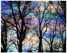Cotton Candy Sunrise... The person who photographed this reworked the image with a color pencil.  Just beautiful.