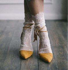 White Lace Socks - Bridal Lace socks - Sexy Socks - White socks - White tulle socks - Fashion socks - Designer socks socks for Women's Shoes Whether ballerinas, sneakers, high heels or shoes - wonderful shoes are every woman's favorite little bit o. Sock Shoes, Cute Shoes, Me Too Shoes, Crazy Shoes, Shoe Boots, Fashion Socks, Fashion Outfits, Womens Fashion, Fashion Heels