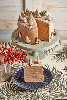 Gyömbéres mézeskalács torta | Street Kitchen Vanilla Cake, Food And Drink, Sweets, Cookies, Christmas, Sweet Pastries, Crack Crackers, Biscuits, Navidad