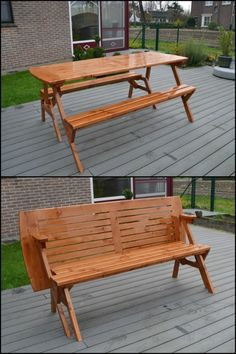Get The Best Of Both Worlds By Building This Convertible Picnic Table Bench!