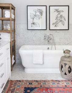 Bathroom decor for your master bathroom renovation. Learn bathroom organization, master bathroom decor tips, bathroom tile ideas, master bathroom paint colors, and more. Bad Inspiration, Bathroom Inspiration, Bathroom Ideas, Bathroom Storage, Bathroom Designs, Bathroom Renovations, Decorating Bathrooms, Pictures In Bathroom, Bathroom Shelves