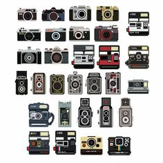 cameras on the wall -- decals oh my. #decals #cameras #house