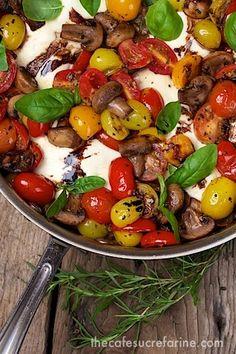 Italian Chicken - Caprese Style - 1 hour