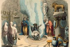 """""""Oráculo de Delfos"""", pintura de Heinrich Leutemann"""