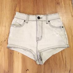 SALE⚡️BDG Super High Rise Short Shorts NWOT size 25w high waisted shorts! Cheeky and super cute for the summer time. True to size. Never worn but no tag! No trades please  Urban Outfitters Shorts Jean Shorts