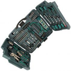 El maletín Mannesmann para profesionales está formado por 89 herramientas de cromo vanadio, un tipo especial de acero, de alta calidad, resistencia y dureza.