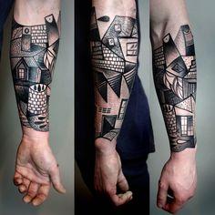 La tendencia del cubismo representado en estos impresionantes tatuajes