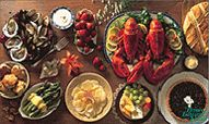 A thoroughly scrumptious spread of local fare, Prince Edward Island style. Canadian Cuisine, Canadian Food, Pei Canada, Canada Eh, Mcdonald French Fries, Island Food, Prince Edward Island, Fresh Rolls, Great Recipes