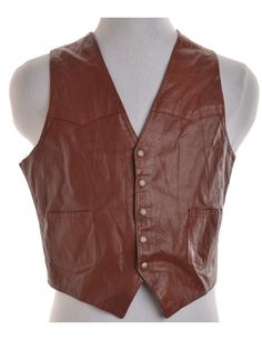 Vintage Waistcoat Brown With Full Lining | Beyond Retro
