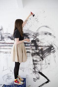 Intervju med taiteilija/konstnär Hannaleena Heiska. Kuva/Foto: Ari Karttunen/EMMA (Espoo Museum of Modern Art) Ballet Skirt, Pastel, Skirts, Art, Fashion, Art Background, Moda, Tutu, Kunst