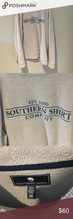 Southern t shirt company pullover NWOT. size medium recommend xs-medium. Color is pearl blue  grayish/blue. Super comfy and cozy. I have too many of these. Do not ask for trades. Offer up southern tshirt company Tops Sweatshirts & Hoodies