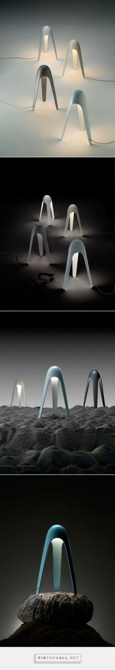 Cyborg Lamp by Karim Rashid for Martinelli Luce - Design Milk - created via http://pinthemall.net