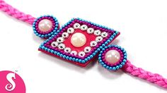 Dear friends,we are going to make Rakhi from Woolen. Its really easy & beautiful rakhi making idea. Rakhi Making, Rakhi Design, Silk Thread, Handmade Design, Making Ideas, Make It Simple, Crochet Necklace, Birthdays, Beaded Bracelets