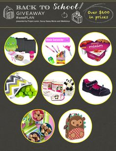 Back To School #weePLAN Prizes
