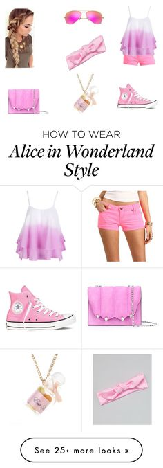 """""""PINK!!!!!!!!!"""" by teenwolfmoosic on Polyvore featuring WithChic, Marco de Vincenzo, Ray-Ban and Converse"""