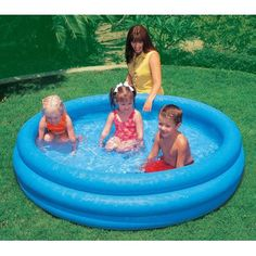 INTEX Crystal Blue Kids Outdoor Inflatable 66  x 15Swimming Pool 58446EP >>> You can get more details by clicking on the image.Note:It is affiliate link to Amazon.