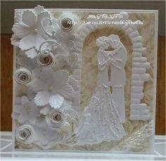 pretty weddingcard by Karin